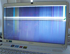 laptops met defect scherm