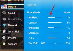 Samsung Menu Backlight